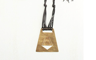 Layers of Earth Tumalo Necklace (Light Tan)