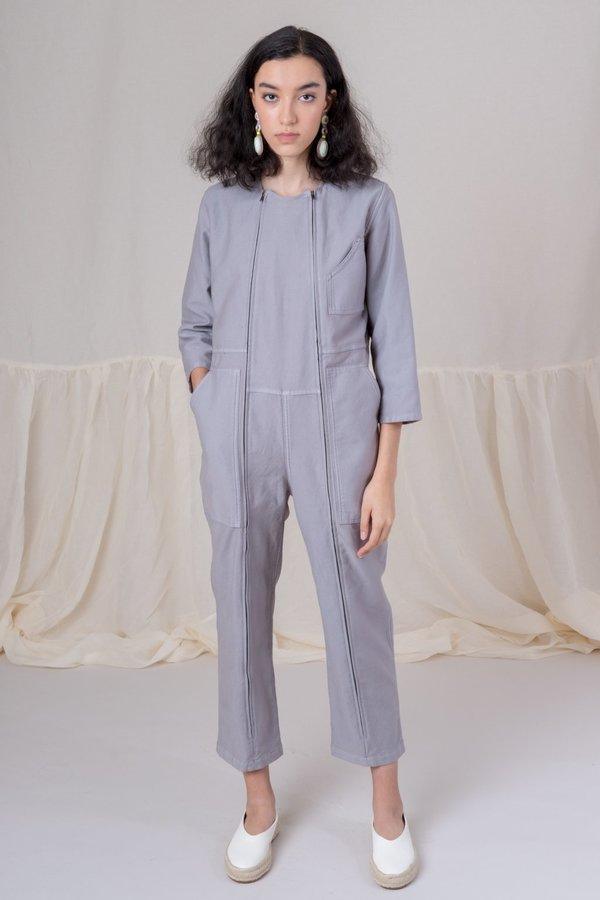 f2e22d3afc06 Caron Callahan Twill Ace Jumpsuit - Grey