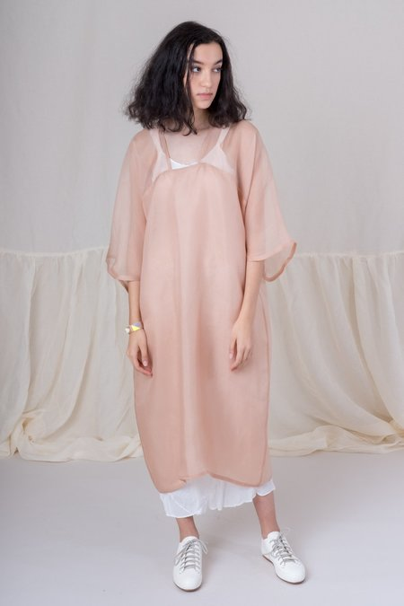 Bianca and Red Wave Dress - Blush