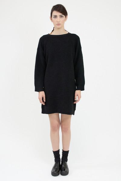 Micaela Greg RIPPLE SWEATER DRESS - BLACK