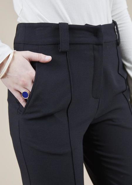 annette gortz Aloe Front-Seam Trouser - black