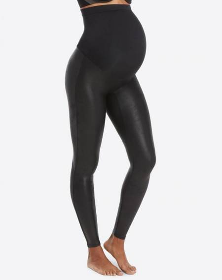 Spanx Mama Faux Leather Legging - Very Black