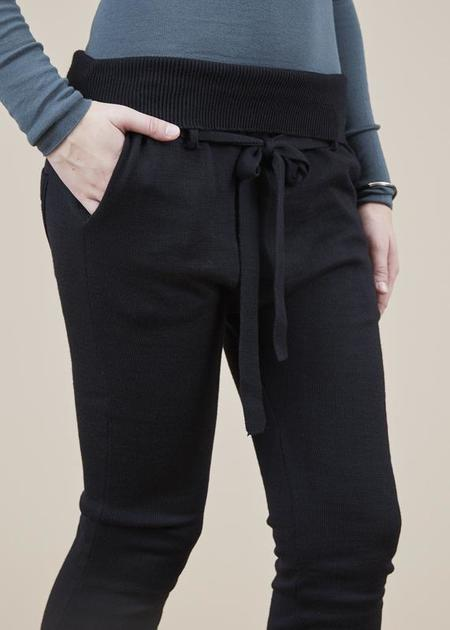 Hannes Roether Residency Knit Jogger Pant - black