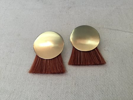 Anna Monet Iris Earrings - Madder Root