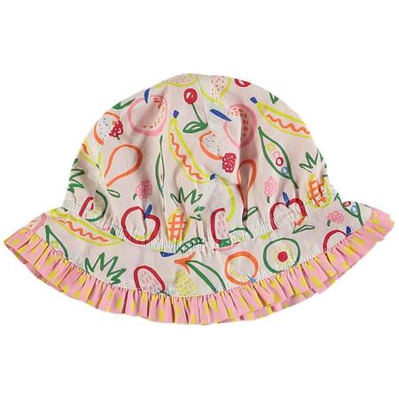 KIDS Stella McCartney Baby Sun Hat With Multicolour Fruit Print - White