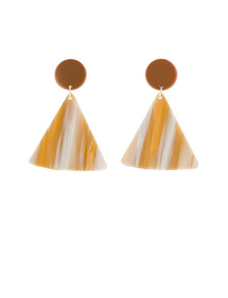 BIANCA MAVRICK CHIP EARRINGS - TANGELO