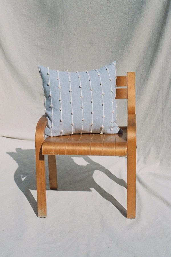Mexchic Puff Throw Pillow - GREY