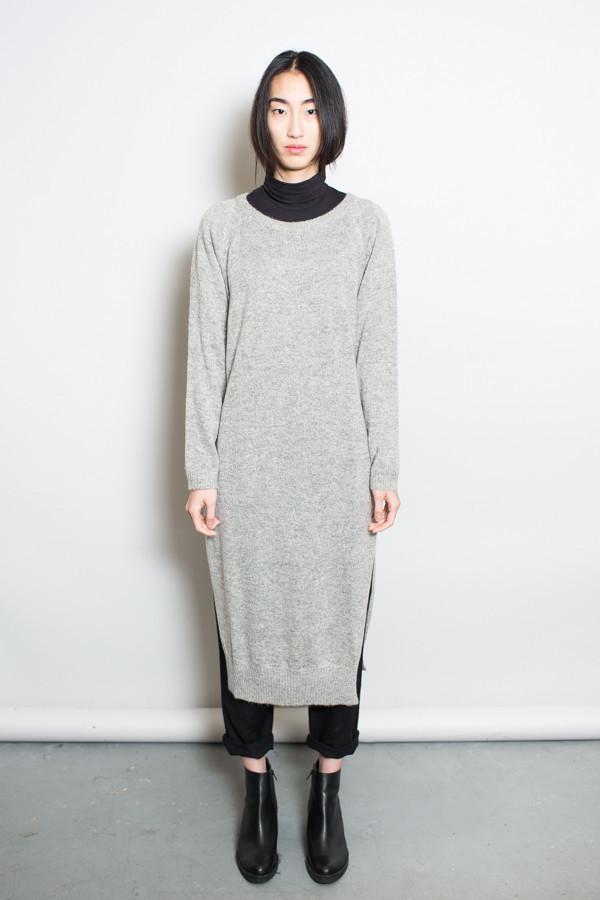 e5fd835bb87 Achro Side Slit Sweater Dress