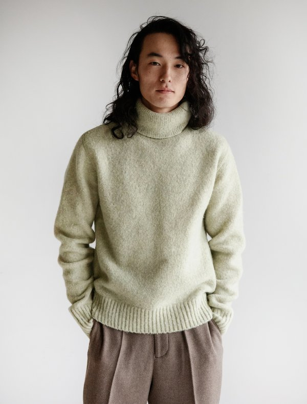 126df94bd6c Our Legacy Submarine Rollneck - Shaggy Green on Garmentory
