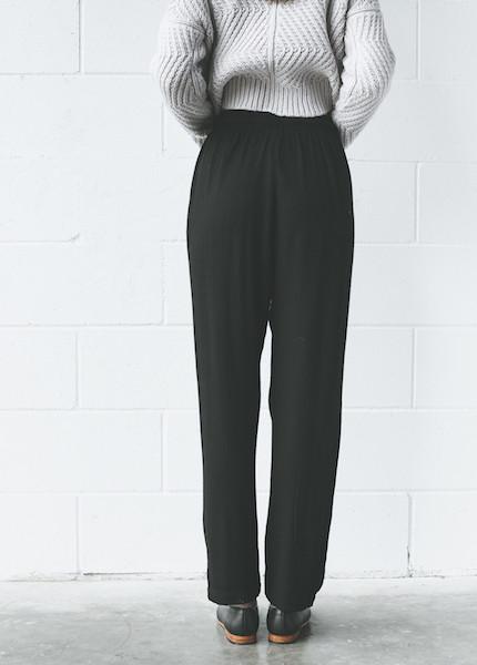 Black Crane - Slim Pant in Black