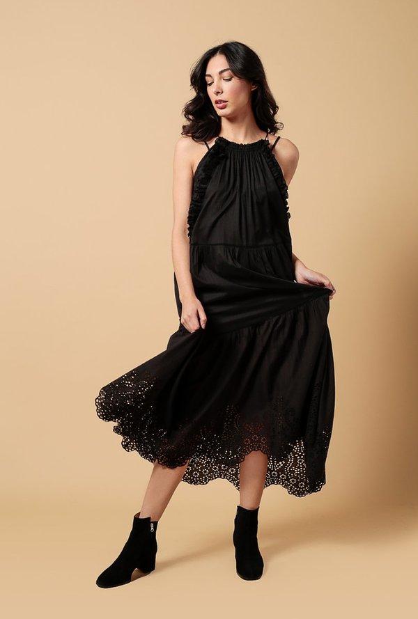 7aaaacbbbef Apiece Apart Eyelet Lippard Dress - BLACK