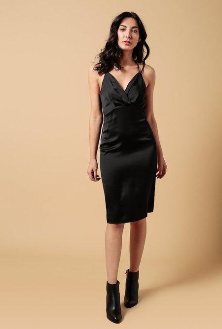 Azalea Jane Tie Cami Dress - black