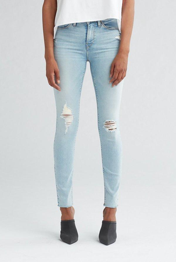 486ed734b77 Hudson Jeans Nico Midrise Super Skinny Ankle Jean - Worn Crystal Blue
