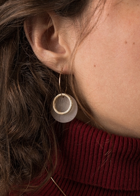 HighLow Shift Earrings - Gold