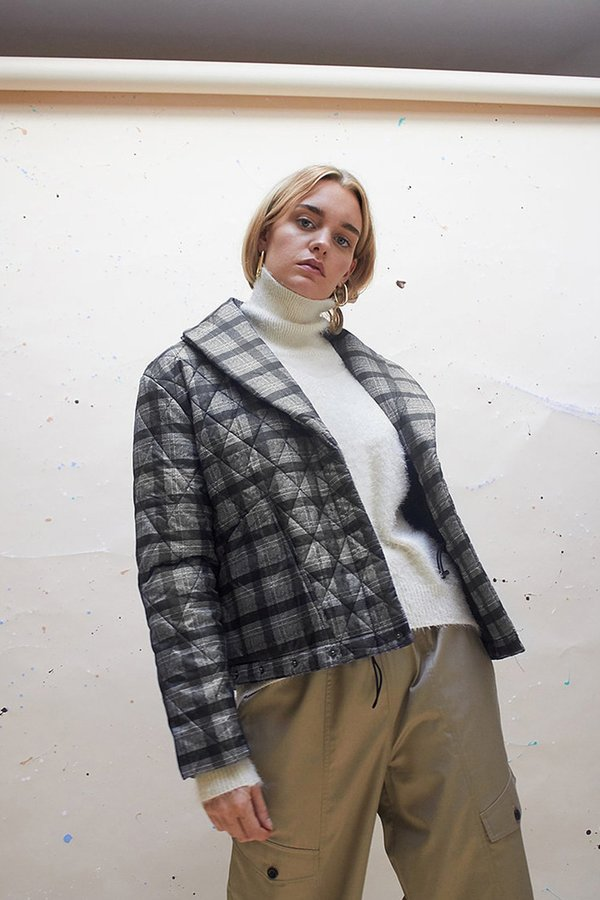 House of Sunny Adjustable Quilting Puffa Jacket