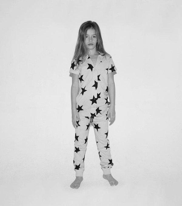 KIDS Nununu Star Snap Loungewear - GRAY