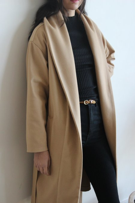 Avenue robe coat - camel