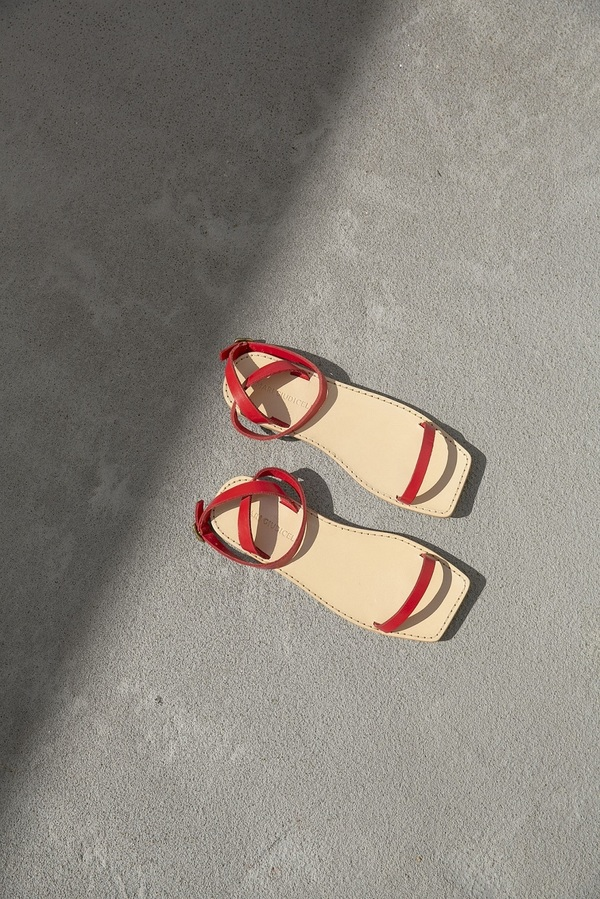 Mari Giudicelli Valencia Sandal - Red