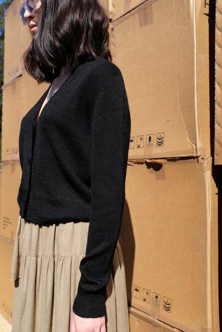 Beklina Alpaca Cardigan Sweater - Black