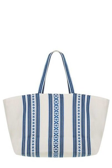 Elina Lebessi Elektra Beach Bag - Navy/White