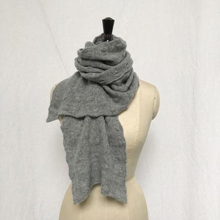 Ros Duke Pure Cashmere small Polka scarf - Gray