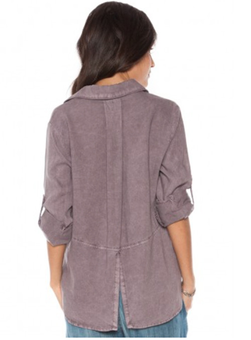 Split Back Button Down