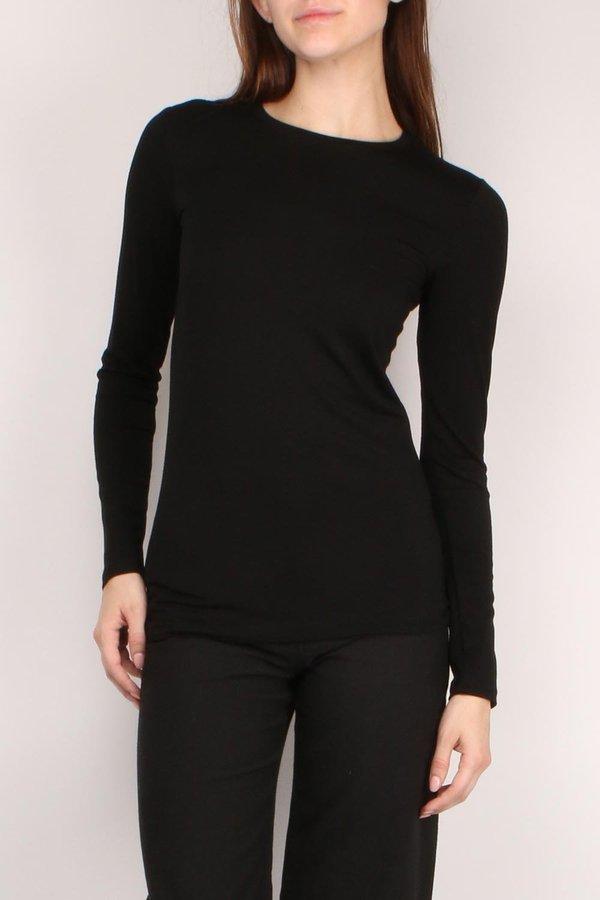 7ea7a0005 L'agence Tess Crew Neck Long Sleeve - BLACK | Garmentory