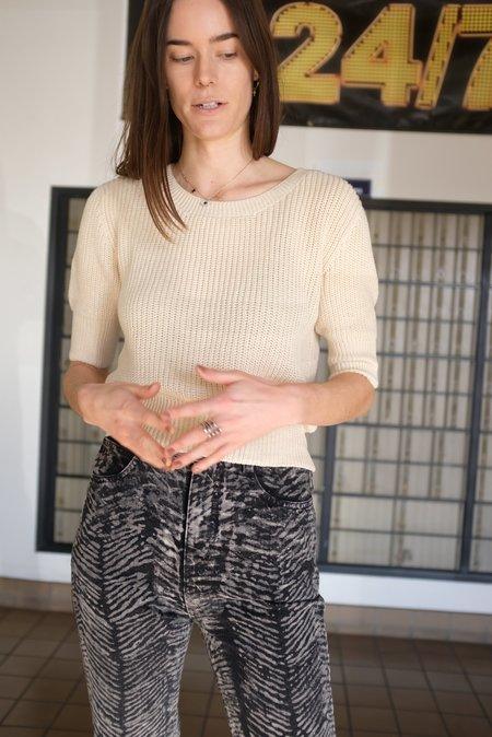 Beklina Hand Knit Story Top - Straw