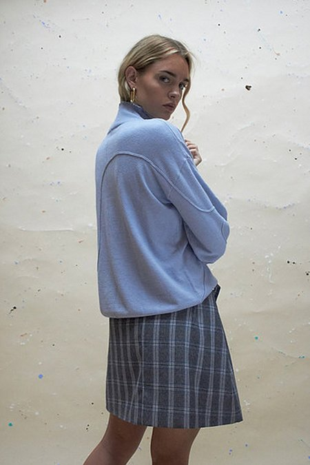 House of Sunny Volume Jumper - Powdered Blue