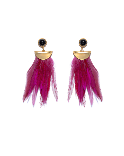 Lizzie Fortunato Pink Parrot Earrings