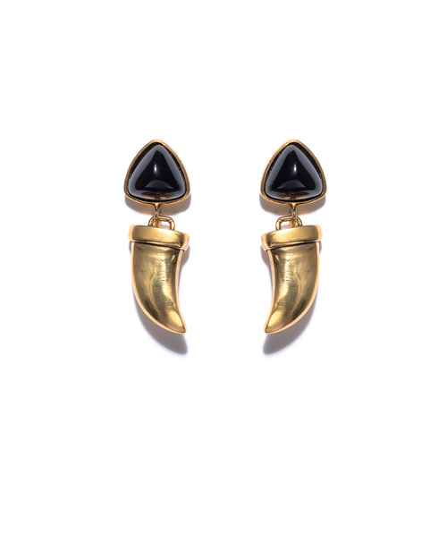 Lizzie Fortunato Onyx Talisman Earrings