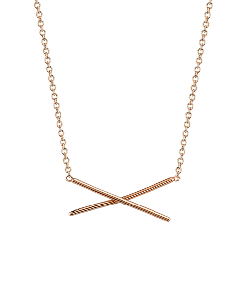 Gabriela Artigas X Necklace in 14K Rose Gold