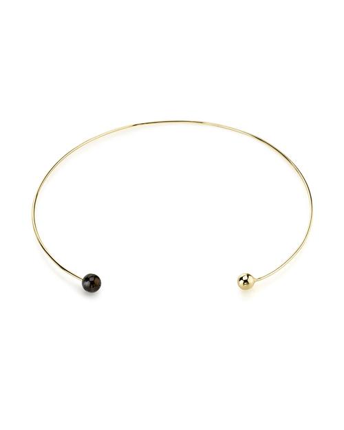 Gabriela Artigas Gold & Black Pearl Orbit Choker