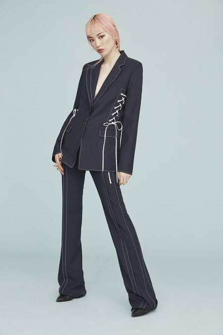 Adeam Double Tailored Jacket - NAVY