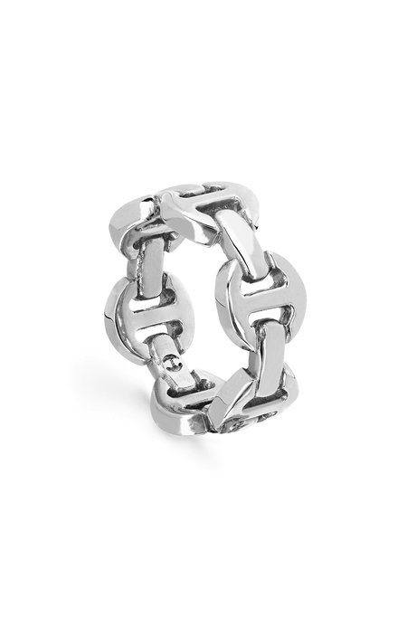 Hoorsenbuhs Brute Classic Tri-Link Ring - SILVER