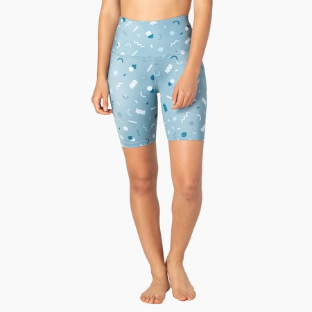 BY Beyond Yoga x Poketo High Waisted Biker Short - Lux Print