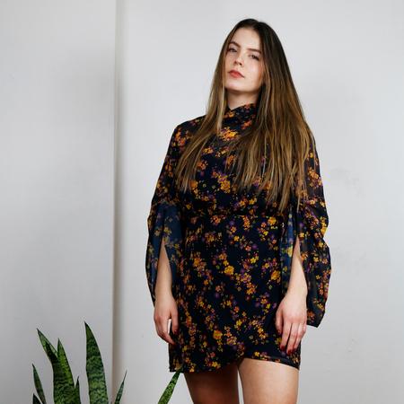 C/MEO Heartbreaker Long Sleeve Dress - Ink Botanic