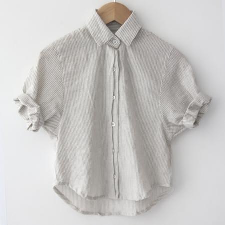 KIDS Spanish Banks Button-Up Shirt - Grey Stripe