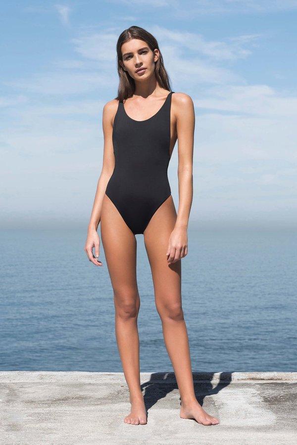 9ceb5cddf5 Haight Thin Strap Maillot Swimsuit - Black | Garmentory