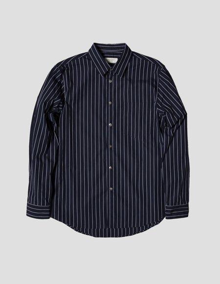 Kapatid NYC Pocket Shirt - Navy/Grey Stripe