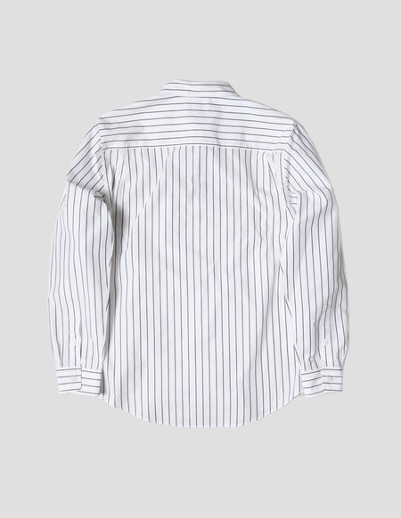 Kapatid NYC Shirt - White/Grey Stripe