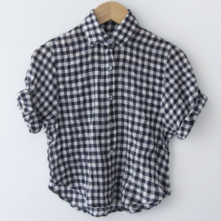KIDS Pley Spanish Banks Button-Up Shirt - Checked