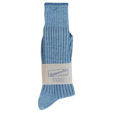 Anonymous Ism Ribbed Dye Sock - Washed Indigo