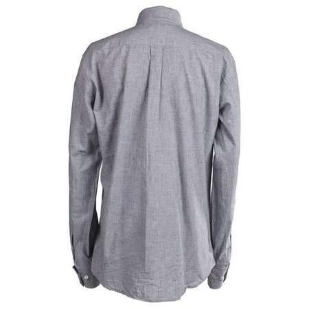 Burrows and Hare Cotton & Linen Luke Shirt - GREY