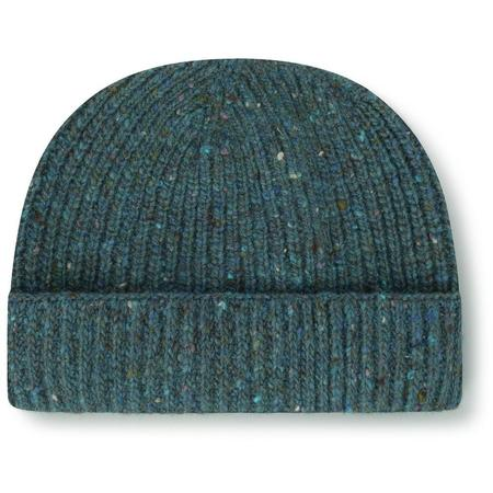 Burrows and Hare Merino Donegal Wool Beanie Hat - Teal