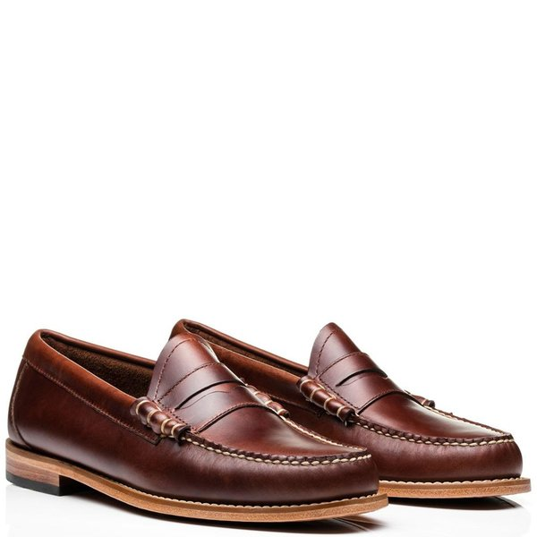 42a7744de48 G.H Bass Weejuns Handmade Larson Pull Up Penny Loafers - Dark Brown ...