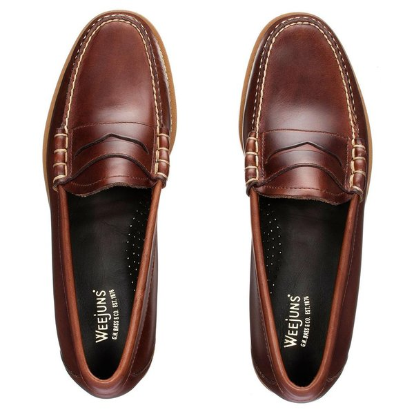 868d980e5fe G.H Bass Weejuns Handmade Larson Pull Up Penny Loafers - Dark Brown ...