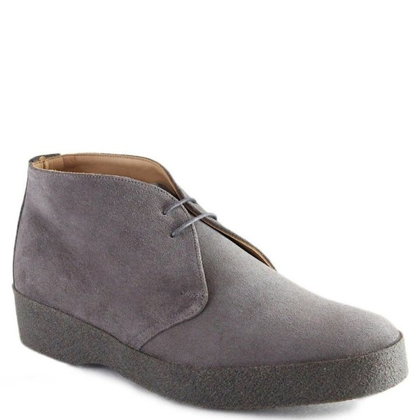 Sanders Suede Crepe Sole English Made Chukka Boots Grey Garmentory