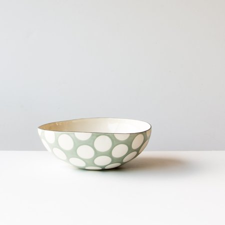 Colleen Dwyer Meloche Large Porcelain Bowl With Polka Dots