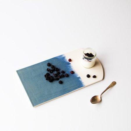 Marjorie Camiré Porcelain Serving Tray - White/Blue